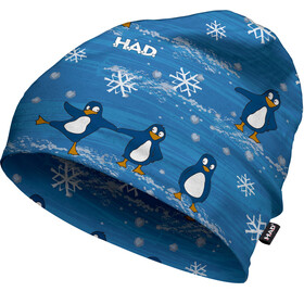 HAD Printed Fleece Headwear Children blue